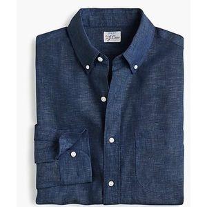 J. Crew Baird McNutt Irish Linen Menswear Shirt